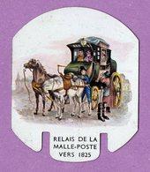 Plaque Publicitaire En Metal Moutarde Parizot   Relais De La Malle Poste Vers 1825 Diligence Caleche...  - - Plaques En Tôle (après 1960)