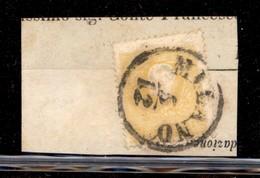ANTICHI STATI ITALIANI - LOMBARDO VENETO - 1858 - 2 Soldi (23) Usato Su Frammento A Milano (1.550) - Timbres