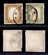 ANTICHI STATI ITALIANI - LOMBARDO VENETO - Brozzo (P.ti 12) - 10 Cent + 5 Cent (14E + 13Eb - Sardegna) - Molto Belli (1. - Timbres