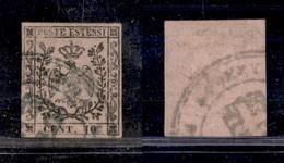ANTICHI STATI ITALIANI - MODENA - Governo Provvisorio - Uso Fiscale - 10 Cent (2) Con Annullo Amministrativo Di Modena ( - Timbres
