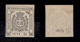 ANTICHI STATI ITALIANI - MODENA - 1859 - 20 Cent (15) Gomma Originale - Emilio Diena + Colla (5.000) - Timbres