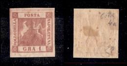 ANTICHI STATI ITALIANI - NAPOLI - 1858 - 1 Grano (4a - Carminio) - Gomma Originale - Diena + Colla (2.000) - Timbres