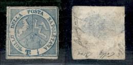 ANTICHI STATI ITALIANI - NAPOLI - Dittatura - 1860 - Mezzo Tornese (15) Nuovo Senza Gomma - Assottigliato Al Retro - Da  - Timbres
