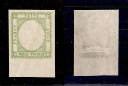 ANTICHI STATI ITALIANI - PROVINCE NAPOLETANE - 1861 - Mezzo Tornese Senza Effigie (17aia) Bordo Foglio - Gommato Al Rect - Timbres