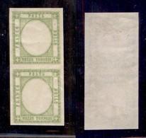 ANTICHI STATI ITALIANI - PROVINCE NAPOLETANE - 1861 - Senza Effigie - Coppia Verticale Del Mezzo Tornese (17aia - Variet - Timbres