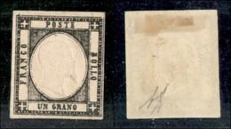 ANTICHI STATI ITALIANI - PROVINCE NAPOLETANE - 1861 - 1 Grano (19c - Nero Carbone) - Gomma Originale - Diena (700) - Timbres