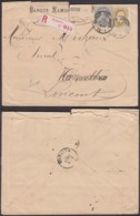 Belgique COB 32 + 39  Sur Lettre Recommandé De Namur 10/09/1884 Vers Nivelles - Lettre Déchirée (RD4) DC5507 - 1869-1883 Leopold II.