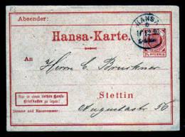 Stettin - 2 1/2 Pf. Wappen Ganzsache Gebraucht 1895 - Poste Privée