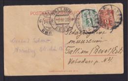 1925 - 9 M. ANTWORT-Ganzsache Mit Zufrankatur Ab NÜRNBERG Nach Tallinn - Estonie