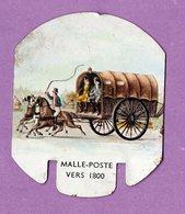 Plaque Publicitaire En Metal Moutarde Parizot  Malle Poste Dit Panier A Salade Vers 1800 -   Carosse Caleche...  - - Tin Signs (vanaf 1961)