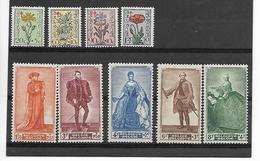 België  N° 814/822  Xx Postfris  Cote  72,00 Euro - Nuevos