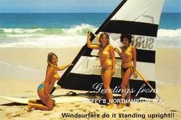 Australia Greetings From Smiffy's Northampton W.A. Pin Up  Windsurfers Do It Standing Upright!!    Barry 4608 - Australië