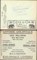 BELGIQUE Entiers  ENV - Type: FRANCHISE Série: 1405 CCP(1935)/chocolat Cote D'or (éléphant*, Palmier*), Loterie National - Entiers Postaux
