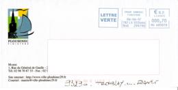 Enveloppe Illustrée, Ville De Plouhinec 29, Finistère, Mairie - Freistempel
