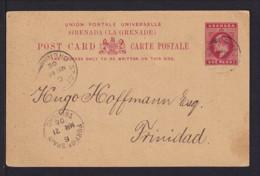 1905 - 1 P. Ganzsache Ab Grenada Nach Trinidad - Grenade (...-1974)