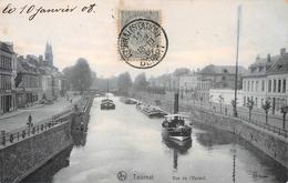 Tournai - Vue De L'Escaut (remorqueur, Péniches) - Tournai