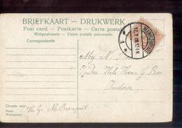 Heerhugowaard 1 Langebalk - 1908 - Postal History
