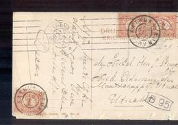 Katwijk A D RIjn Grootrond - 1909 - Poststempel
