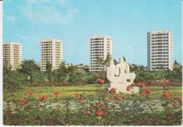 Bucuresti Tower Blocks Sculpture Monument Used (ask For Verso) - Romania