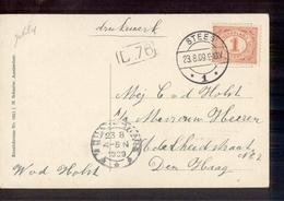 Steeg 1 Langebalk - 1909 - Marcophilie