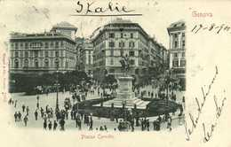 Genova Piazza Corvetto   RV Beau Timbre Cachet - Genova (Genua)