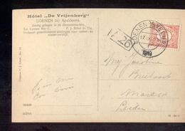 Loenen Ad Veluwe Kortebalk 1919 HOtel De Vijenberg Apeldoor - Postal History
