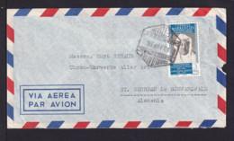 1956 - 3 Pta. Auf Luftpostbrief Ab TETUAN Nach Deutschland - Maroc Espagnol