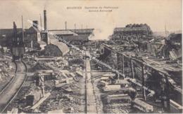 SOIGNIES 1920 CARRIERES DU PERLONJOUR SA. / QUELQUES OUVRIERS AU TRAVAIL ET A GAUCHE UNE GRUE - Soignies
