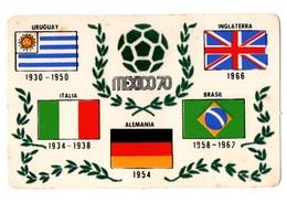 RARE POSTAL POST CARD MUNDIAL DE MEXICO 70 1970 WORLD CUP FOOTBALL FÚTBOL CHAMPIONSHIP COPA DEL MUNDO SOCCER ENGLAND.... - Calcio