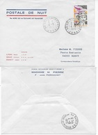 """Enveloppe Imprimée """"Postale De Nuit Par Nord 262 Touraine Air Transport"""" 4/9/73 Oblitération Dole Entrepôt - France"""