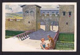 "5 Pf. Privat Ganzsache ""Saalburg - Porta Decumana"" - Gebraucht 1899 - Archéologie"