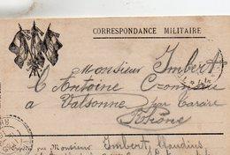 L - Correspondance Militaire -  3 Drapeaux - - Marcophilie (Lettres)
