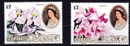 Niue 1981 Yvertn° 356-357 *** MNH Cote 13,75 Euro Flore Fleurs Flowers Bloemen - Niue