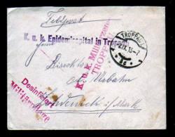 1915 - Feldpostbrief Vom Epidemiespital Troppau Mit Desinfiziert-Stempel Und Zensur - Maladies