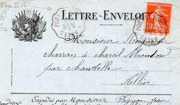 L - Enveloppe  -Drapeaux- - Marcophilie (Lettres)
