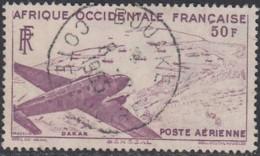 Afrique Occidentale Française - Bouake / Côte D'Ivoire Sur Poste Aérienne N° 12 (YT) N° 12 (AM). Oblitération. - A.O.F. (1934-1959)