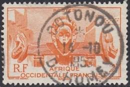 Afrique Occidentale Française - Cotonou / Dahomey Sur N° 33 (YT) N° 33 (AM). Oblitération. - Usati