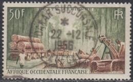 Afrique Occidentale Française - Dakar Succursale Sur Poste Aérienne N° 14 (YT) N° 14 (AM). Oblitération. - A.O.F. (1934-1959)