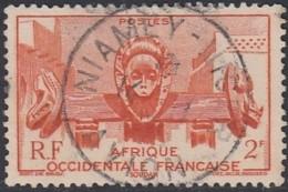 Afrique Occidentale Française - Niamey Niger / Avion Sur N° 33 (YT) N° 33 (AM). Oblitération. - A.O.F. (1934-1959)