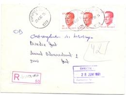 Enveloppe Omslag - Aangetekend - Hofstade - Stempel Cachet  1988 - Stamped Stationery