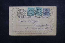 FRANCE - Entier Postal Type Sage + Compléments De Lille Pour Luxembourg En 1892 - L 50840 - Entiers Postaux