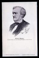 10 Pf. Lokalpost Ganzsache Berlin Zum Wagnerfest - Bild: Richard Wagner - Ungebraucht - Musique