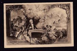 1910 - 5 H. Privat Ganzsache Mozart-Gemeinde Salzburg -. Passender Sonderstempel Mozarthaus - Musique