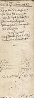 Lot De 3 Vieux Papiers De Sendets, An 13, Pierre Prat Prête 500 Francs à Marie Minvielle Et Joseph Pedebidou Pour Un An - Documents Historiques