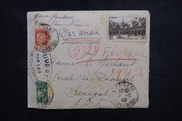 FRANCE - Enveloppe De Nice Pour Le Sénégal En 1942 Avec Contrôle Postal - L 50842 - Postmark Collection (Covers)