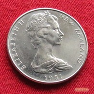 New Zealand 5 Cents 1981 KM# 34.1  Nova Zelandia Nuova Zelanda Nouvelle Zelande - Nueva Zelanda