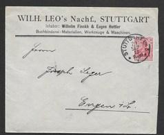 Perfin Brief Stuttgart 1912 , Firmenlochung  LEO , Buchbinderei , Perfin Cover - Deutschland