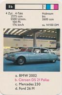 Single Trading Card: Citroen DS 21 Pallas. (car/auto). - Automobili