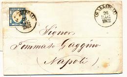1862 PROVINCE NAPOLETANE 2 GRANA ANNULLATO GALLIPOLI CERCHIO - Napoli