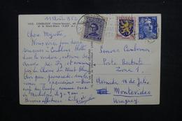 URUGUAY / FRANCE. - Affranchissement La Poste Restante De Montevideo Sur CP De France En 1952 - L 50846 - Uruguay